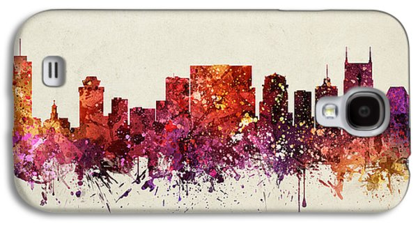 Nashville Galaxy S4 Cases - Nashville Cityscape 09 Galaxy S4 Case by Aged Pixel