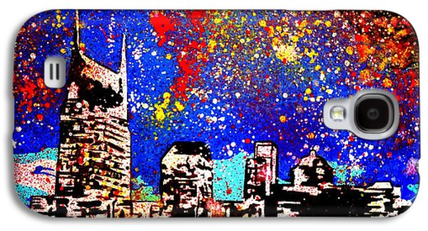 Nashville Paintings Galaxy S4 Cases - Nashville Galaxy S4 Case by Nick Mantlo-Coots