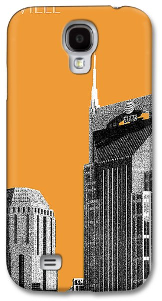 Nashville Skyline At And T Batman Building - Orange Galaxy S4 Case by DB Artist