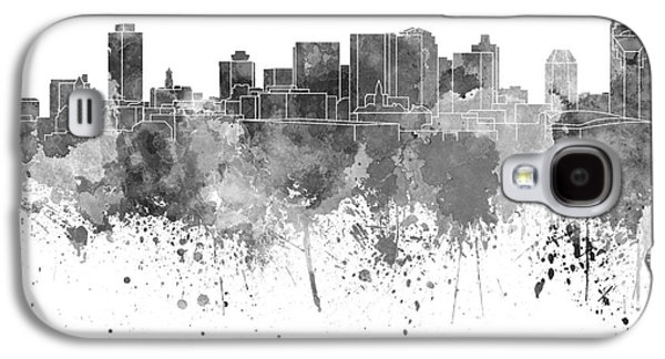 Nashville Tennessee Paintings Galaxy S4 Cases - Nashville skyline in black watercolor on white background Galaxy S4 Case by Pablo Romero