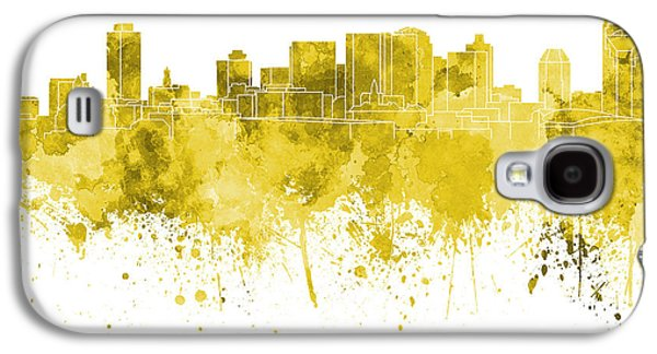 Nashville Tennessee Paintings Galaxy S4 Cases - Nashville skyline in pink watercolor on white background Galaxy S4 Case by Pablo Romero