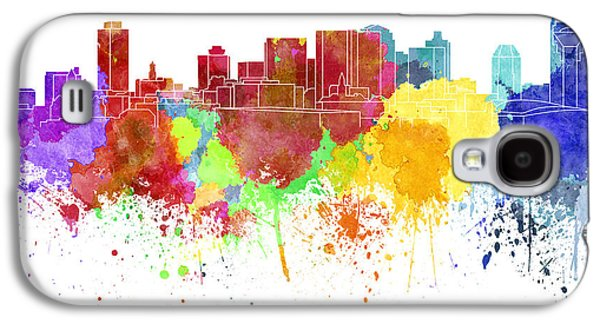 Nashville Tennessee Paintings Galaxy S4 Cases - Nashville skyline in watercolor on white background Galaxy S4 Case by Pablo Romero