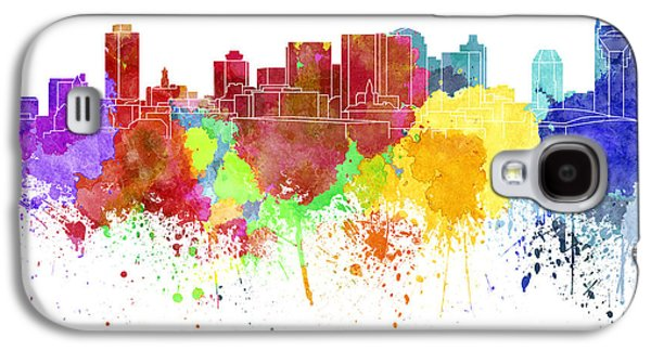 Nashville Skyline In Watercolor On White Background Galaxy S4 Case by Pablo Romero