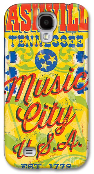 Nashville Galaxy S4 Cases - Nashville Tennessee Poster Galaxy S4 Case by Jim Zahniser