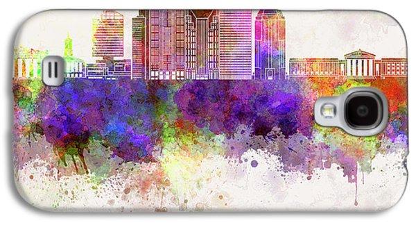 Nashville V2 Skyline In Watercolor Background Galaxy S4 Case by Pablo Romero