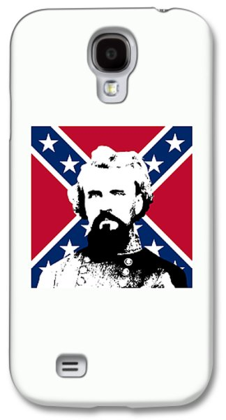 Pride Galaxy S4 Cases - Nathan Bedford Forrest and The Rebel Flag Galaxy S4 Case by War Is Hell Store