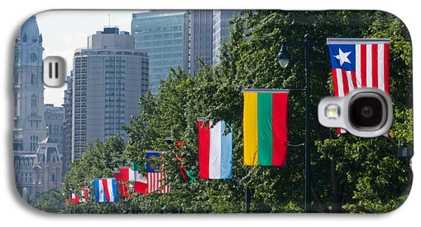 Downtown Franklin Galaxy S4 Cases - National Flags Of Various Countries Galaxy S4 Case by Panoramic Images
