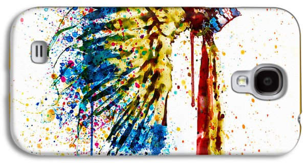 Native American Feather Headdress   Galaxy S4 Case by Marian Voicu