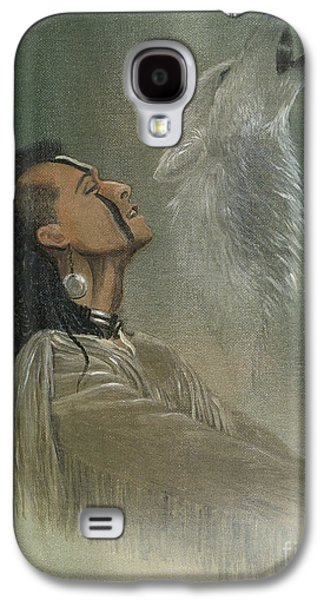 American Mixed Media Galaxy S4 Cases - Native American Indian Galaxy S4 Case by Morgan Fitzsimons