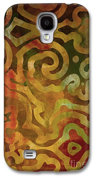 Earth Tones Paintings Galaxy S4 Cases - Native Elements Earth Tones Galaxy S4 Case by Mindy Sommers