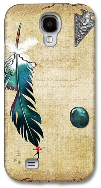 Slaves Galaxy S4 Cases - Native Reflections 3D Mixed Media Galaxy S4 Case by Sharon and Renee Lozen