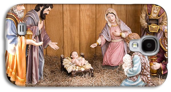 Mother Mary Digital Art Galaxy S4 Cases - Nativity Scene Galaxy S4 Case by Thomas R Fletcher