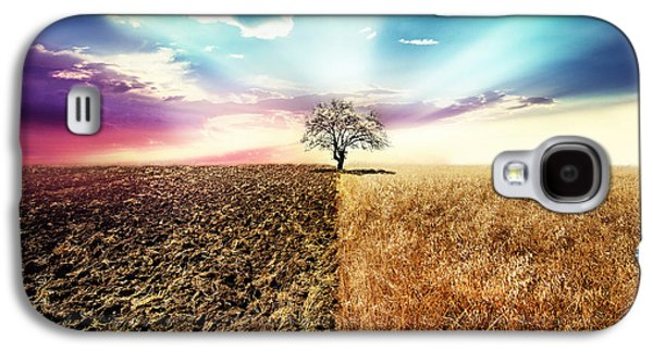 Landscapes Photographs Galaxy S4 Cases - Nature Simetry Galaxy S4 Case by Ivan Vukelic