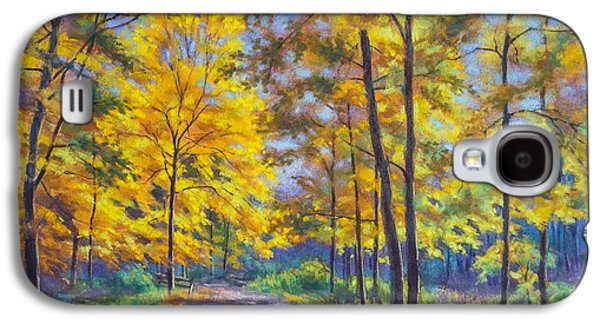 Autumn Landscape Pastels Galaxy S4 Cases - Nature Trail Turn of Autumn Galaxy S4 Case by Fiona Craig
