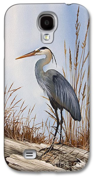 Heron Paintings Galaxy S4 Cases - Natures Gentle Beauty Galaxy S4 Case by James Williamson