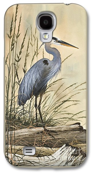 Heron Paintings Galaxy S4 Cases - Natures Harmony Galaxy S4 Case by James Williamson