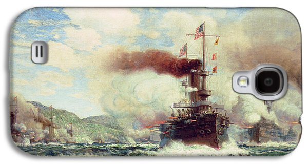 Historic Ship Galaxy S4 Cases - Naval Battle Explosion Galaxy S4 Case by James Gale Tyler