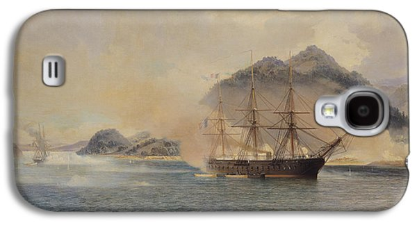 Historic Ship Galaxy S4 Cases - Naval Battle of the Strait of Shimonoseki Galaxy S4 Case by Jean Baptiste Henri Durand Brager