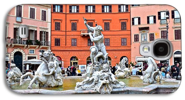 Navona Piazza Fountain Galaxy S4 Case by Frozen in Time Fine Art Photography