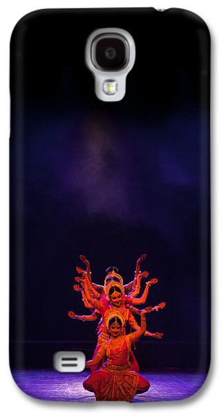 Goddess Durga Galaxy S4 Cases - Navratri Durga Galaxy S4 Case by Marji  Lang