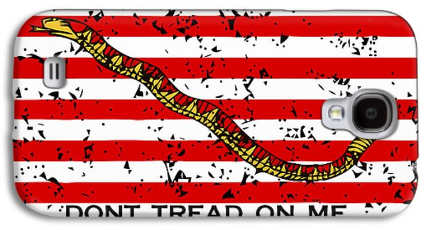 Navy Jack Flag - Don't Tread On Me Galaxy S4 Case by War Is Hell Store