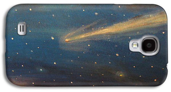 Outer Space Pastels Galaxy S4 Cases - Near Miss Comet Galaxy S4 Case by Lee Kaczorowski
