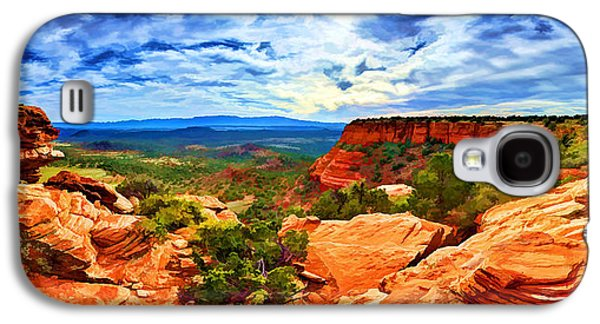 Photo Manipulation Galaxy S4 Cases - Near the Edge at Doe Mountain 1 Galaxy S4 Case by Bill Caldwell -        ABeautifulSky Photography