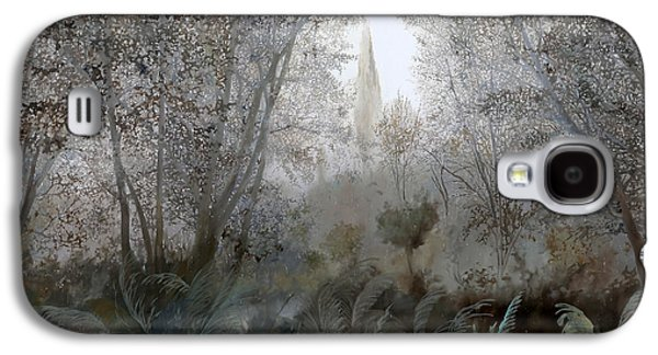 Mist Paintings Galaxy S4 Cases - Nebbia Nel Bosco Galaxy S4 Case by Guido Borelli