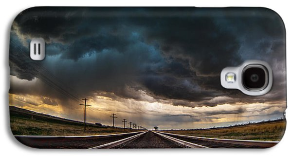 Storm Prints Photographs Galaxy S4 Cases - Nebraska Storm Hwy 30 Galaxy S4 Case by Darren  White