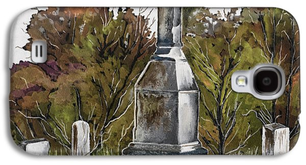 Headstones Paintings Galaxy S4 Cases - Necropolis Galaxy S4 Case by Brenda Owen