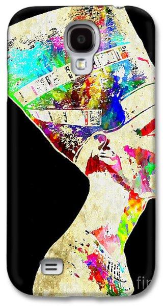 Statue Portrait Mixed Media Galaxy S4 Cases - Nefertiti Grunge Galaxy S4 Case by Daniel Janda
