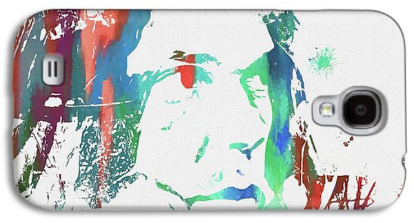 Neil Young Paint Splatter Galaxy S4 Case by Dan Sproul