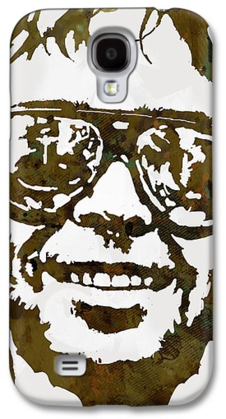 Person Mixed Media Galaxy S4 Cases - Neil Young pop  stylised art sketch poster Galaxy S4 Case by Kim Wang