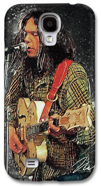 Neil Young Galaxy S4 Case by Taylan Apukovska