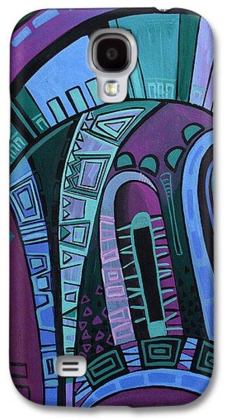 Mix Medium Drawings Galaxy S4 Cases - Neon Galaxy S4 Case by Deyana Deco