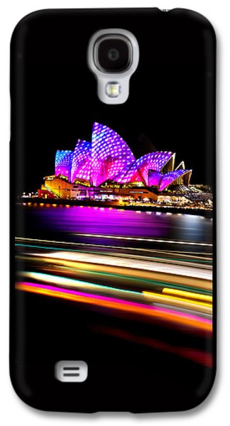 Business Galaxy S4 Cases - Neon Nights Panorama Galaxy S4 Case by Az Jackson