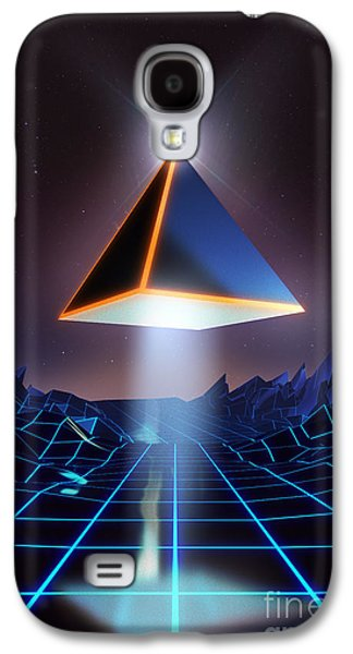 Computer Generated Galaxy S4 Cases - Neon Road  Galaxy S4 Case by Pixel Chimp