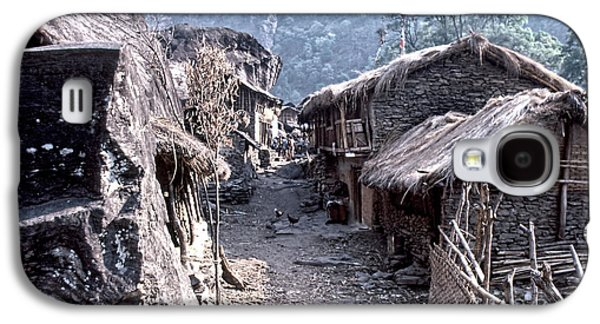 Keith Ducker Galaxy S4 Cases - Nepal Village Galaxy S4 Case by Keith Ducker
