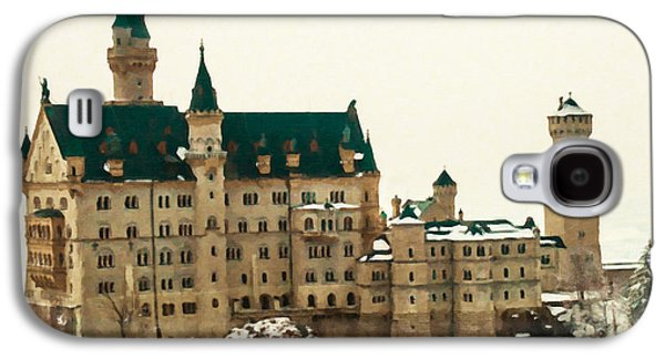 Knights Castle Paintings Galaxy S4 Cases - Neuschwanstein Castle Galaxy S4 Case by Lanjee Chee