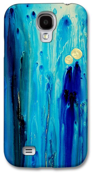 Abstract Art Canvas Paintings Galaxy S4 Cases - Never Alone Galaxy S4 Case by Sharon Cummings