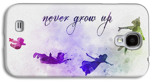 Animation Galaxy S4 Cases - Never Grow Up Galaxy S4 Case by Rebecca Jenkins