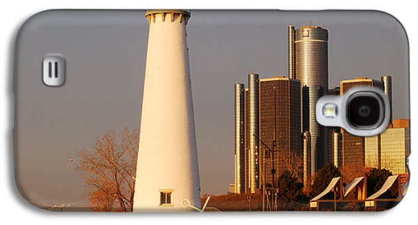 Renaissance Center Galaxy S4 Cases - New And The Old Galaxy S4 Case by Michael Peychich