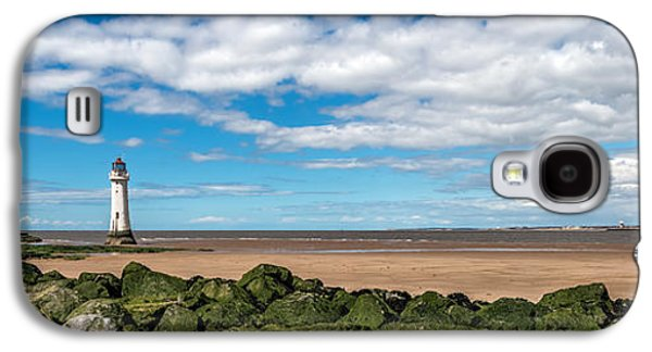 Beach Landscape Digital Galaxy S4 Cases - New Brighton Lighthouse  Galaxy S4 Case by Adrian Evans