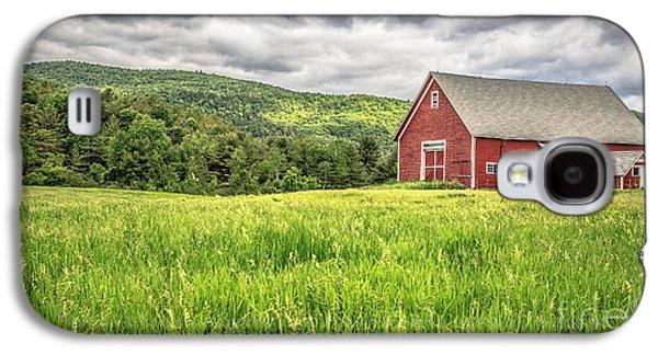New England Barns Galaxy S4 Cases - New England Farm Landscape Galaxy S4 Case by Edward Fielding