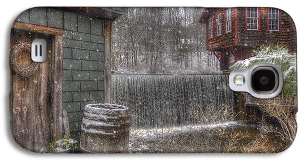 New England Snow Scenes - Frye's Measure Mill - Wilton, Nh Galaxy S4 Case by Joann Vitali
