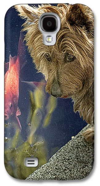 Puppy Digital Art Galaxy S4 Cases - New Friends Galaxy S4 Case by Chris Lord