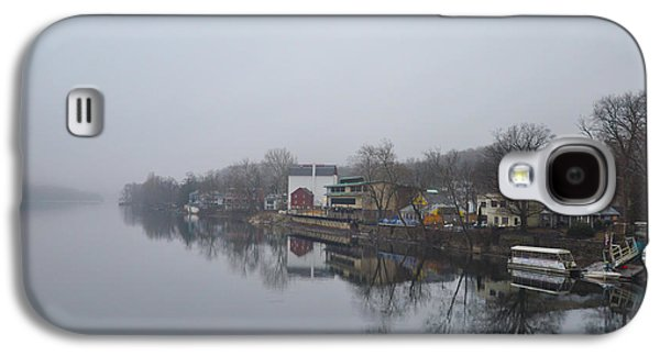 River View Galaxy S4 Cases - New Hope River View on a Misty Day Galaxy S4 Case by Bill Cannon