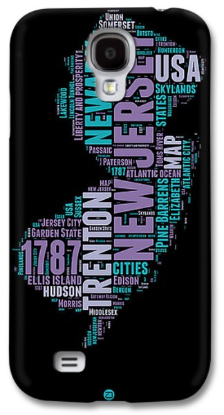 4th July Mixed Media Galaxy S4 Cases - New Jersey Word Cloud 1 Galaxy S4 Case by Naxart Studio