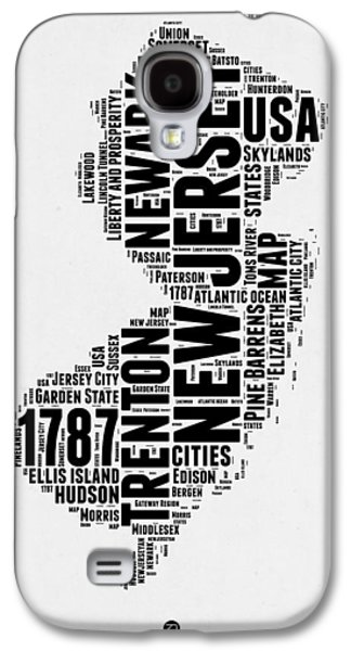 4th July Mixed Media Galaxy S4 Cases - New Jersey Word Cloud 2 Galaxy S4 Case by Naxart Studio