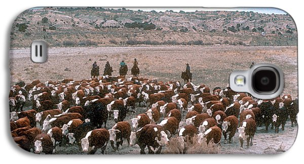 New Mexico Cattle Drive Galaxy S4 Case by Jerry McElroy